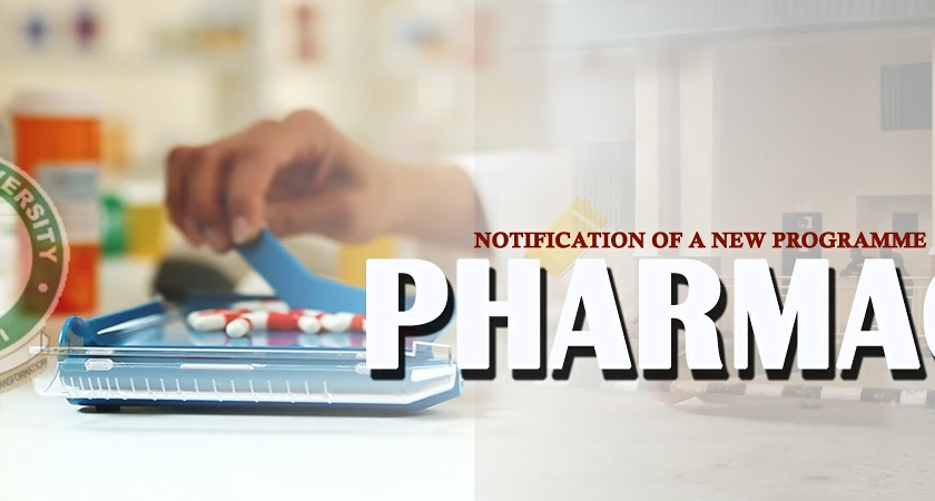 FEDERAL UNIVERSITY, OYE EKITI: NOTIFICATION OF A NEW PROGRAMME – PHARMACY
