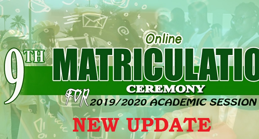 NEW UPDATE: FOUYE RE: NOTIFICATION OF THE 2019/2020 ONLINE MATRICULATION