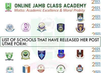 UPDATED LIST OF SCHOOLS THAT HAVE RELEASED HER POST UTME FORMS
